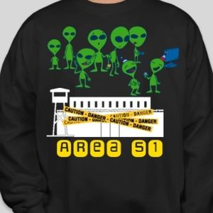 Area 51 party sweater